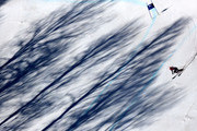 Chemmy Alcott of Great Britain skis during the Alpine Skiing Women's Super-G on day 8 of the Sochi 2014 Winter Olympics at Rosa Khutor Alpine Center on February 15, 2014 in Sochi, Russia.