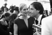 Image has been shot in black and white. Color version not available.) Actress Kate Winslet (L) and  Ned Rocknroll attend The 22nd Annual Screen Actors Guild Awards at The Shrine Auditorium on January 30, 2016 in Los Angeles, California. 25650_020