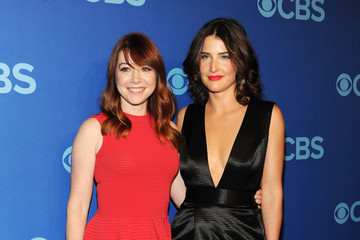 Alyson Hannigan Cobie Smulders Celebs Attend the CBS Upfront Event in NYC