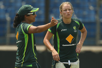 Alyssa Healy Australia Nets Session: Womens Final - ICC World Twenty20 Bangladesh 2014