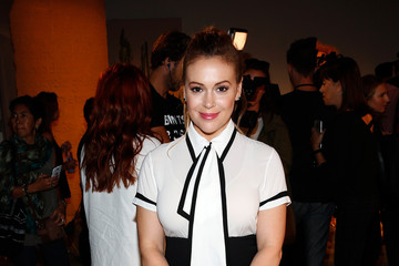 Alyssa Milano Alice + Olivia By Stacey Bendet- Presentation - Spring 2016 New York Fashion Week: The Shows