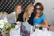 Uma von Wittenkamp, Elizabeth Gilpin and Erica Pelosini attends the Maison De Mode Oscar week lunch hosted by Rosario Dawson, Amanda Hearst, Hassan Pierre & Spotify at Petit Ermitage on February 18, 2015 in West Hollywood, California.