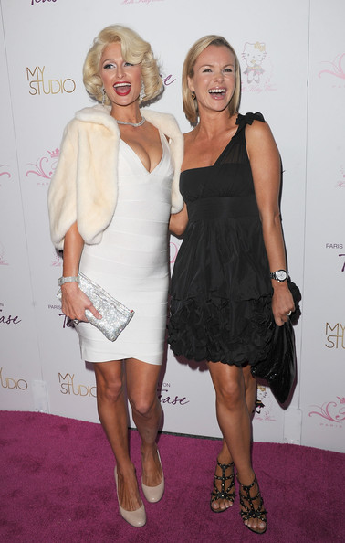 Amanda Holden Paris Hilton and actress Amanda Holden arrive to the launch party for Paris Hilton's her new fragrance