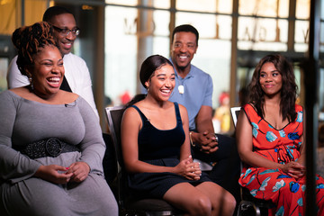 Amandla Stenberg Angie Thomas 'The Hate U Give' Movie Cast And Filmmakers At Essence Festival 2018
