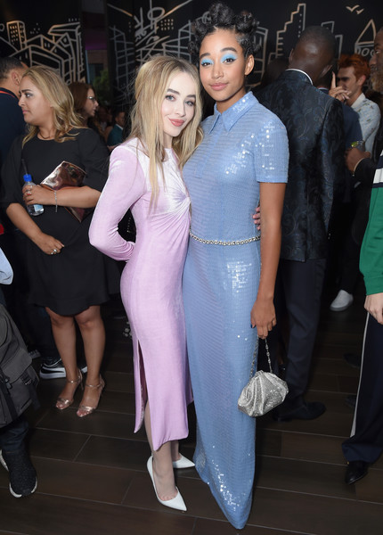 Entertainment Weekly's Must List Party At The Toronto International Film Festival 2018 At The Thompson Hotel [clothing,fashion,dress,event,hairstyle,leg,lip,shoulder,haute couture,joint,amandla stenberg,sabrina carpenter,thompson hotel,toronto,canada,entertainment weekly,must list party,entertainment weeklys must list party,the toronto international film festival]
