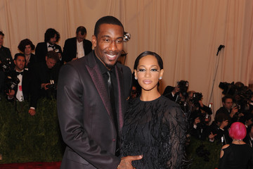Amare Stoudemire Alexis Welch Red Carpet Arrivals at the Met Gala
