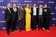 Producer Matt Tolmach, director Marc Webb, actors Jamie Foxx, Emma Stone, Andrew Garfield, Dane DeHaan and producer Avi Arad attend 'The Amazing Spider-Man 2' world premiere at the Odeon Leicester Square on April 10, 2014 in London, England.