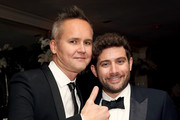 Head of Amazon Studios, Roy Price (L) and Head of Comedy, Amazon Studios Joe Lewis attend Amazon's Golden Globe Awards Celebration at The Beverly Hilton Hotel on January 10, 2016 in Beverly Hills, California.