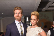 """Actors Josh Meyers and Gage Golightly attend the Amazon red carpet premiere for the brand new original comedy series """"Red Oaks"""" on September 29, 2015 in New York City."""