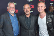 (L-R) Author and creator Michael Connelly, actor Titus Welliver and Head of Amazon Studios Roy Price  attend Amazon Red Carpet Premiere Screening For Season Two Of Original Drama Series, 'Bosch' on March 3, 2016 in Los Angeles, California.