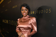 Aja Naomi King attends the Amazon Studios Golden Globes After Party at The Beverly Hilton Hotel on January 05, 2020 in Beverly Hills, California.