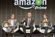 (L-R) Head of Drama, Amazon Studios, Morgan Wandell, Head of Amazon Studios, Roy Price and Head of Comedy, Amazon Studios Joe Lewis speak onstage during the 'Executives' panel discussion at the Amazon Studios portion of the 2015 Summer TCA Tour on August 3, 2015 in Beverly Hills, California.
