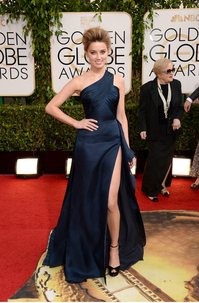 Amber Heard - 71st Annual Golden Globe Awards - Arrivals