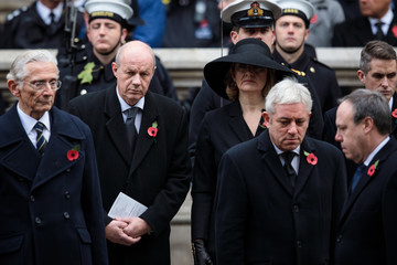 Amber Rudd The Royal Family Lay Wreaths at the Cenotaph on Remembrance Sunday