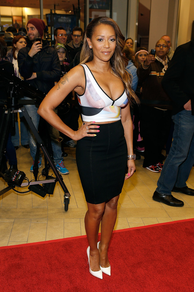 Got Red Nails For Prom Jems And Sparkles Were Added: Melanie Brown In 'America's Got Talent' Red Carpet Event