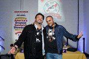 (L-R) Adam Richman and founder & CEO of Goldbelly, Joe Ariel attend America's Greatest Sandwich Showdown during New York City Wine & Food Festival at Highline Stages on October 13, 2019 in New York City.