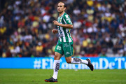 Landon Donovan of Leon looks on during the 11th round match between America and Leon as part of the Torneo Clausura 2018 Liga MX at Azteca Stadium on March 10, 2018 in Mexico City, Mexico.