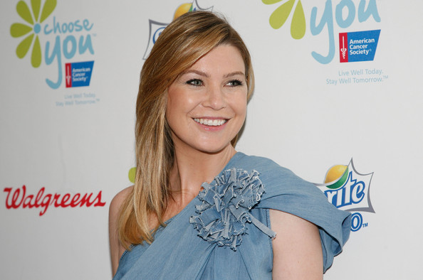 Ellen+Pompeo in The American Cancer Society's Choose You Launch Luncheon