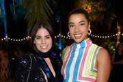 Ally Hilfiger (L) and Hannah Bronfman attend the American Express Platinum Card Member Dinner hosted by Chef Michael Solomonov at Platinum House at 1 Hotel South Beach on December 7, 2018 in Miami, Florida.