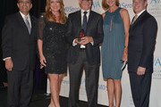 (L-R) Executive Director American Fertility Association Ken Mosesian,television personality Wendy Burch, Dr. David Hill, actress Brenda Strong and EMD Serono's Don Hribek attend the American Fertility Association's Illuminations LA at W Hollywood on May 3, 2014 in Hollywood, California.