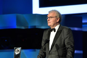 AFI Board of Trustees Chair Howard Stringer speaks onstage during the American Film Institute's 46th Life Achievement Award Gala Tribute to George Clooney at Dolby Theatre  on June 7, 2018 in Hollywood, California.  389298