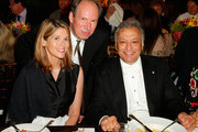 (L-R) Suzanne Zimmer, Honoree Hans Zimmer and Israel Philharmonic Orchestra Conductor Zubin Mehta attend American Friends Of The Israel Philharmonic Orchestra Benefit Honoring Hans Zimmer at Wallis Annenberg Center for the Performing Arts on July 16, 2014 in Beverly Hills, California.