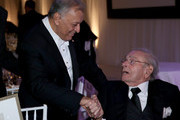Conductor Zubin Mehta (L) and Honoree Bram Goldsmith attend the American Friends of the Israel Philharmonic Orchestra Duet Gala at the Wallis Annenberg Center for the Performing Arts on November 10, 2015 in Beverly Hills, California.