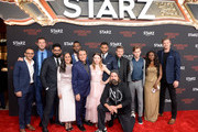 (L-R) Omid Abtahi, Pablo Schreiber, Mousa Kraish, Sakina Jaffrey, Ian McShane, Demore Barnes, Emily Browning, Ricky Whittle, Peter Stormare, Crispin Glover, Bruce Langley, Yetide Badaki and Derek Theler attend the American Gods Season Two Red Carpet Premiere Event on March 5, 2019 in Los Angeles, California.