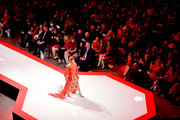 Rosanna Arquette walks the runway for The American Heart Association's Go Red For Women Red Dress Collection 2019 Presented By Macy's at Hammerstein Ballroom on February 7, 2019 in New York City.