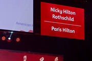 Nicky Hilton Rothschild and Paris Hilton walk the runway at The American Heart Association's Go Red For Women Red Dress Collection 2020 at Hammerstein Ballroom on February 05, 2020 in New York City.