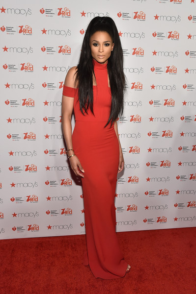 Ciara attends the Go Red For Women Red Dress Collection 2015 presented by Macy's fashion show during Mercedes-Benz Fashion Week Fall 2015 at Lincoln Center on February 12, 2015 in New York City.