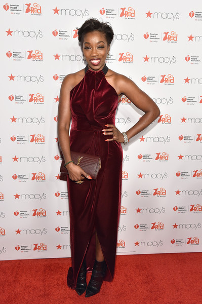 Musician Estelle attends the Go Red For Women Red Dress Collection 2015 presented by Macy's fashion show during Mercedes-Benz Fashion Week Fall 2015 at Lincoln Center on February 12, 2015 in New York City.
