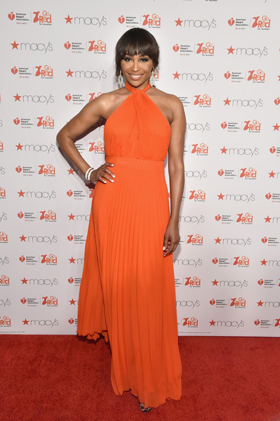 Cynthia Bailey attends the Go Red For Women Red Dress Collection 2015 presented by Macy's fashion show during Mercedes-Benz Fashion Week Fall 2015 at Lincoln Center on February 12, 2015 in New York City.