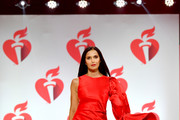 Padma Lakshmi walks the runway for The American Heart Association's Go Red For Women Red Dress Collection 2019 Presented By Macy's at Hammerstein Ballroom on February 7, 2019 in New York City.