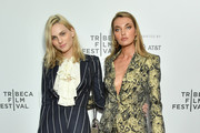 """Andreja Pejic and Alina Baikova attend the screening of """"The American Meme"""" during the 2018 Tribeca Film Festival at Spring Studios on April 27, 2018 in New York City."""