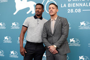 Director Nate Parker and Theo Rossi attend 'American Skin' photocall during the 76th Venice Film Festival at Sala Grande on September 01, 2019 in Venice, Italy.