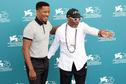 """Director Nate Parker and Spike Lee attend """"American Skin"""" photocall during the 76th Venice Film Festival at Sala Grande on September 01, 2019 in Venice, Italy."""