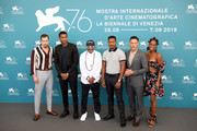 "(L-R) Beau Knapp, Shane Paul McGhie, Spike Lee,  director Nate Parker, Theo Rossi and Miluana Jackson attend ""American Skin"" photocall during the 76th Venice Film Festival at Sala Grande on September 01, 2019 in Venice, Italy."