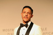 "Theo Rossi walks the red carpet ahead of the ""American Skin"" screening during the 76th Venice Film Festival at Sala Giardino on September 01, 2019 in Venice, Italy."