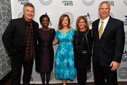(L-R) Alec Baldwin, actor and arts advocate; Mignon Clyburn, Commissioner, FCC; Maureen Dowd, Columnist, NY Times; Melissa Maxfield, Senior VP Congressional and Federal Government Affairs, Comcast; and Scott Woodward, Senior VP, Programming, Ovation are pictured at a VIP reception on March 24, 2014 in Washington, DC.  Ovation was a lead sponsor of the Americans for the Arts 27th annual Nancy Hanks lecture on Arts and Public Policy, featuring Maureen Dowd and Alec Baldwin and held at the John F. Kennedy Center for the Performing Arts.