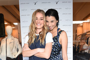 Elizabeth Gilpin (L) and Lily Kwong attend the Amour Vert x Swith Boutique celebration at Switch Boutique on March 26, 2015 in Beverly Hills, California.