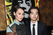 "Actress  Rinko Kikuchi (L) and Shata attend The Cinema Society Screening Of ""Kumiko: The Treasure Hunter"" After Party at Beautique on March 12, 2015 in New York City."