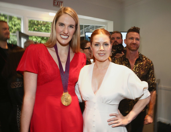 The 6th Annual Gold Meets Golden With Vibrant J Sparkling Wine [6th annual gold meets golden with vibrant j sparkling wine,red,event,fashion,fashion design,smile,wine,amy adams,missy franklin,gold,west hollywood,california,the house,l]