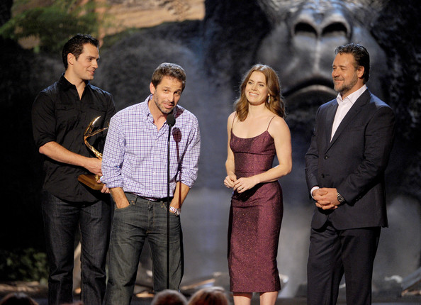 Spike TV's 'Guys Choice' Show [event,acting,drama,performance,suit,scene,henry cavill,zack snyder,actors,russell crowe,amy adams,award,l-r,spike tv,guys choice 2013,show]