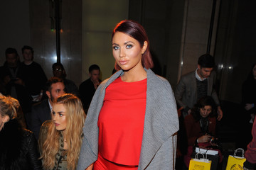 Amy Childs Front Row & Celebrities: Day 2 - LFW AW16