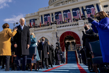 Amy Klobuchar Joe Biden Sworn In As 46th President Of The United States At U.S. Capitol Inauguration Ceremony