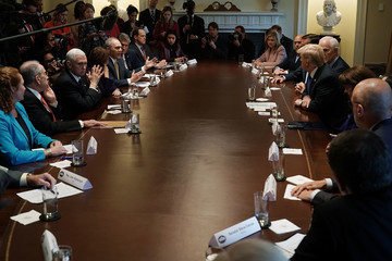 Amy Klobuchar President Trump Holds Meeting With Bipartisan Congress Members To Discuss School Safety