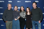 (L-R) Reed Birney, Amy Ryan, Miriam Shor, Oona Laurence, and Dean Winters of 'Lost Girls' attend IMDb's 30th Anniversary Dinner at The Sundance Film Festival on January 27, 2020 in Park City, Utah.