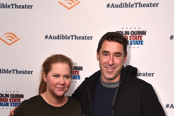 Amy Schumer Opening Night For Colin Quinn's 'Red State Blue State' At Audible's Minetta Lane Theatre In NYC