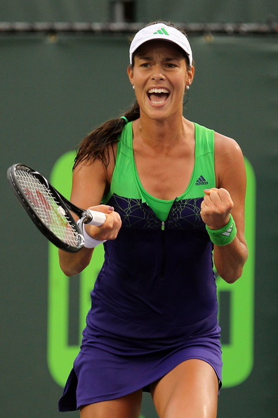 Ana Ivanovic Ana Ivanovic of Serbia reacts against Kim Clijsters of Belgium